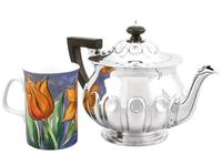 Sterling Silver Teapot by Reid & Sons - Arts & Crafts Style - Antique Edwardian 1904 (2 of 9)