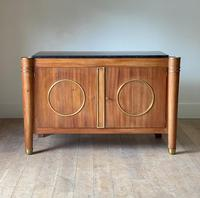 Elegant French Mid Century Modernist Fossil Marble Topped Commode (3 of 10)