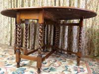 Vintage Barley Twist Gateleg Dining Table (4 of 6)