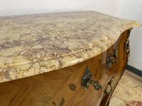 French Chest of Drawers Bombe Commode with Marble Top (8 of 12)