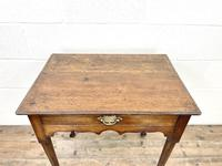 Small 18th Century Antique Oak Side Table (4 of 10)