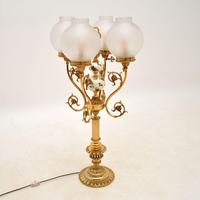 French Style Brass & Glass Table Lamp (3 of 10)