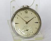 1930s Stainless Steel Doxa Pocket Watch (2 of 4)