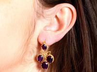 9.15ct Amethyst & 21ct Yellow Gold Chandelier Earrings - Antique c.1895 (9 of 9)