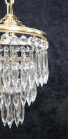 Italian  Art Deco 3 Tier Crystal Glass Chandelier (4 of 7)