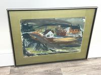 Scottish Mixed Media Painting Cottages in Ayrshire Signed Robert Sinclair Thomson 1915-1983 ARSA, RSW (19 of 27)