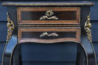 Striking 19th Century French Ebonised & Marquetry Side Table c.1880 (5 of 16)