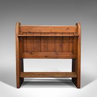 Antique Love Seat, English, Pine, Bench, Pew, Ecclesiastic Taste, Victorian (6 of 12)
