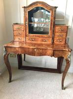 Outstanding Quality Antique Victorian Burr Walnut Bonheur Du Jour/Writing Desk