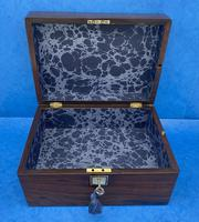 Victorian Rosewood Jewellery Box with Side Drawer (10 of 12)