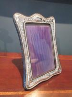 George V Period Silver Shaped Photo Frame (2 of 6)