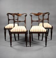 Set of 4 19th Century William IV Rosewood Dining Chairs