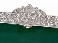 Antique Square Silver Frame with a Cartouche Depicting Females and Horses (4 of 7)