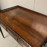 Exceptional Georgian silver table with fret gallery top (10 of 13)