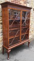 Chippendale Style Glazed Mahogany Bookcase (3 of 10)