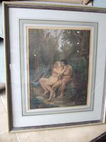 Bartolozzi RA after Thomas Stothard RA: late 18th/early 19th century stipple engraving of Adam and Eve illustrating Milton's Paradise Lost (2 of 7)