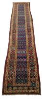 Antique Kurdish Boteh Runner Rug