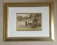 Charles Edward Wilson Watercolour 'SAILING THE TOY BOAT' (2 of 2)