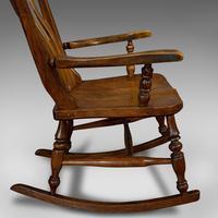 Antique Farmhouse Rocking Chair, English, Elm, Beech, Seat, Victorian c.1900 (11 of 12)