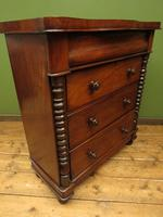 Antique Scottish Style Mahogany Chest of Drawers, Country House Chest (7 of 19)