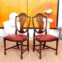 Dining Table & 8 Chairs Mahogany 3.2 Metres Long Hepplewhite Stalker (15 of 16)