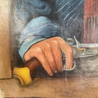 Antique Georgian Early Victorian Oil Painting Portrait of Gentleman with Pistol Signed Preston (6 of 9)
