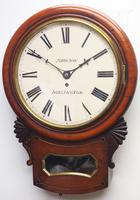Rare Antique Drop Dial Wall Clock 8 Day Single Fusee Movement (2 of 13)