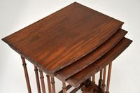 Antique Edwardian Mahogany Nest of  Tables (7 of 11)
