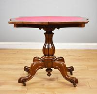 Victorian Burr  Walnut Card Table (5 of 10)