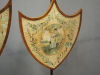 Pair of Late George III Mahogany Pole Screens (4 of 11)