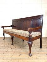 Antique George III Oak Settle Bench (5 of 10)