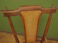 Unusual Antique Bentwood Chair with Caned Seat & Back (3 of 17)