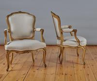 Pair Of French Louis XV Style Painted And Gilt Armchairs (8 of 8)