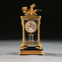 French 8 Day Striking Four Glass Ormolu Clock by Samuel Marti Paris, 19th Century (6 of 11)
