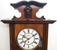 Antique Rocket Cased Single Weight Walnut 8-Day Vienna Regulator Wall Clock (8 of 14)