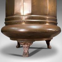 Pair of Antique Stick Stands, Brass, Umbrella Rack, Fireside Bin, Victorian (9 of 12)