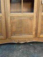 French 3 Door Oak Bookcase or Cabinet (5 of 15)