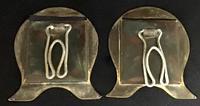 Pair of Brass Art Nouveau Easel Photo Frames (4 of 4)