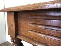 Long Victorian Mahogany Hall Bench (8 of 11)