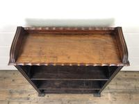 Victorian Walnut Open Bookcase with Gallery Top (9 of 11)