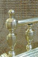 Pair of Victorian Brass Fire-Dogs Fire Irons Rest Andirons for Fireplace c.1890 (3 of 7)