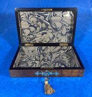 Victorian Brass Bound Burr Walnut  Card Box (10 of 11)