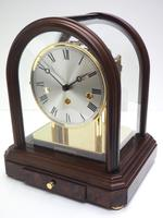 Wow! Franz Hermle & Sohne Musical Bell Chiming Mahogany & Glass Mantel Clock (5 of 13)