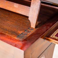 Victorian Leather Top Work Table (9 of 12)