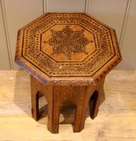 Small Anglo Indian Hexagonal Teakwood Table (4 of 7)