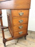 Antique Edwardian Davenport Desk (3 of 15)