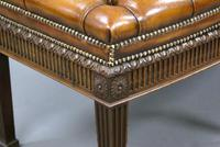 Hepplewhite Revival Bow-fronted Stool (2 of 6)
