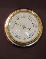 Antique Brass Bulkhead Marine Barometer (6 of 6)