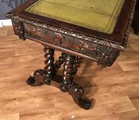 Victorian Carved Oak Desk Library Table (18 of 25)
