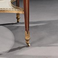 Exceptional Gervais Durand 19th Century Mahogany & Gilt Bronze Gueridon Bouillotte Table (15 of 17)
